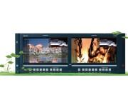 RMS9024-SC  9.0'' 2xLCDS Cтоечный профессиональный ЖК-монитор SD версия