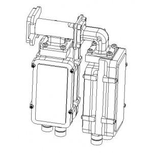 185220-20 Quattro DRO конвертер, V + H, Low + High, 2xWDL, OMT Ku + plastic cover Quattro type B F, Opt. ±2 MHz