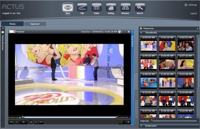 Сохраненные СМИ / доступ к медиа данным- Actus View Stored media