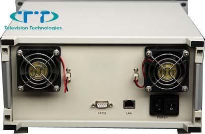 Оптический усилитель 23 dBm в компактном корпусе для напольного размещения вид сзади
