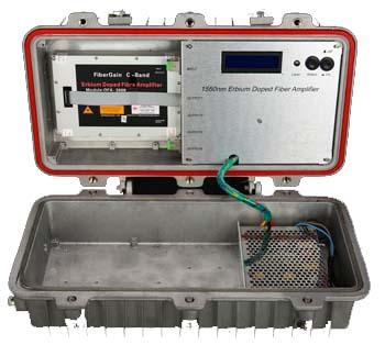 Оптический усилитель 24 dBm во влагозащищенном корпусе для наружного монтажа