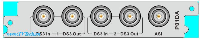 Р01DA модуль 2xDS3 Input/2xDS3 Output/1xASI адаптер для DCP-3000MF PBI