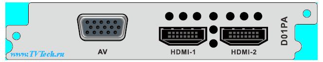 D01PA модуль двухканального H.264/MPEG-2 декодера для DCP-3000MF PBI