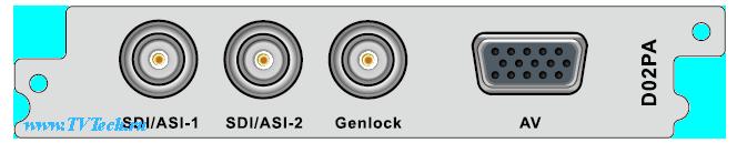D02PA модуль двухканального H.264/MPEG-2 декодера с SDI и CVBS выходами для DCP-3000 PBI
