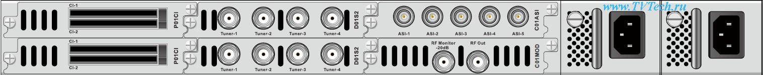 Примеры головных станций на базе мультимедийной платформы PBI DCP-3000