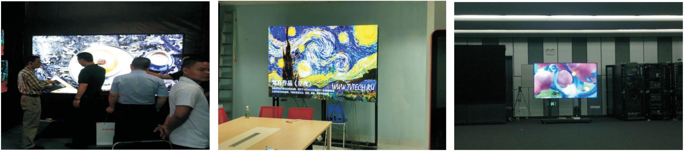 2x2 и 2x3 бесшовные ЖК видео стены с LCD панелями 0мм зазор