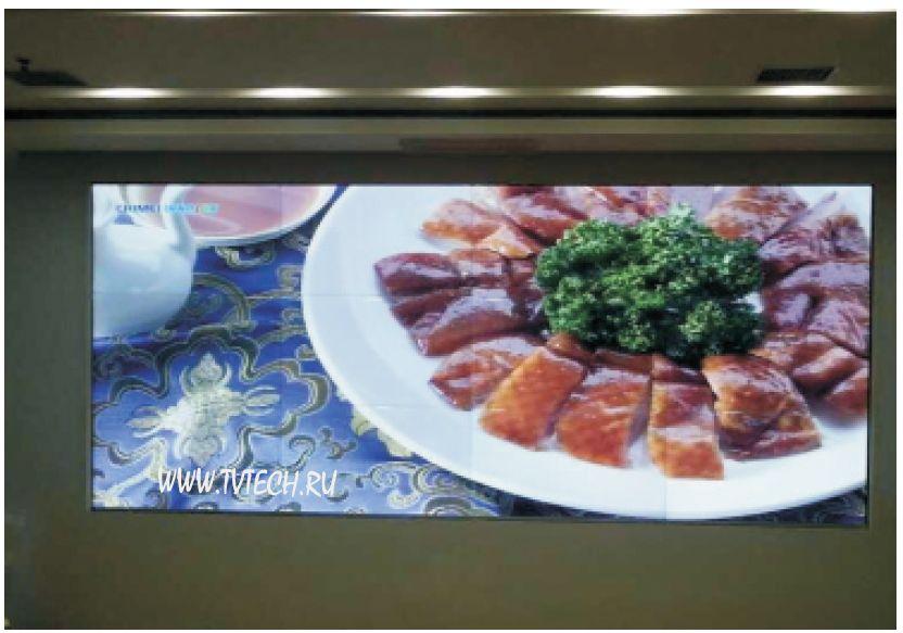 3x4 бесшовные ЖК видео стены с LCD панелями 0мм зазор
