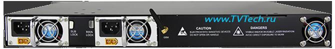 Вид сзади EDFA 8x23 дБм оптический усилитель OA1550