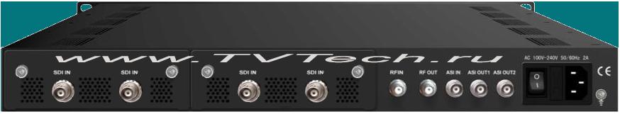 Внешний вид 4-х канального HD-SDI, H.264, Full-HD энкодера и модулятора EC4000HD-C-SDI